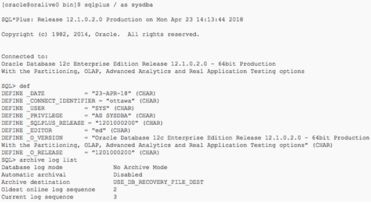 DATA GUARD CONFIGURATION ON ORACLE DATABASE APPLIANCE X3-2