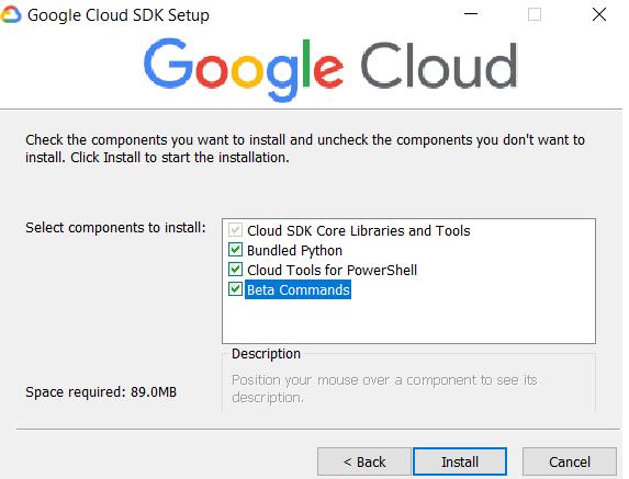Google Cloud SDK Setup