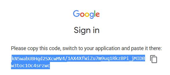 Google Sign In